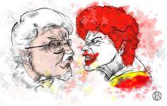 KFC vs McDonald's #kfc #mcdonalds #draw #paint #fight #kresba #malba #boj