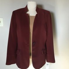KASPER 2 Piece NWT jacket and top Size 8 New with tags ,beautiful moron and tan colors ,one button ,lined, Kasper Jackets & Coats Blazers