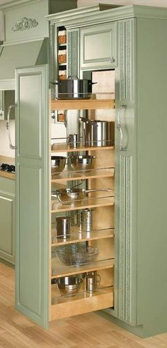 Rev-A-Shelf Rev-A-Shelf 448 Series Wide by Tall Pull Out Pantry Cabinet Natural Wood Tall Cabinet Organizers Pull Out Pantry Organizers Pull - Own Kitchen Pantry Farmhouse Style Kitchen, Rustic Kitchen, Diy Kitchen, Kitchen Storage, Kitchen Ideas, Kitchen Organization, Kitchen Decor, Kitchen Inspiration, Kitchen Hacks