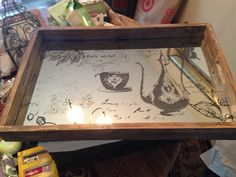 Tea tray for coffee basket