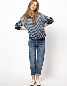 Current Elliott Striped Sweatshirt