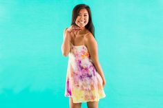 Go through your closet and grab every white garment you own, because this new tie dying technique is amazing! It's called ice tie dye, and those are the only two materials you need — ice and powdered dye.  Are you as obsessed with it as we are?
