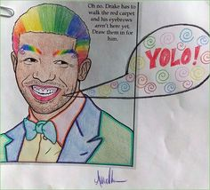 Guest Post: YOLO.  Yes this is a real coloring page in a real coloring book. I don't know why. Reddit user hawkeyemania shared this.