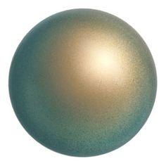 5810 6mm Iridescent Green Pearl Swarovski Crystal Pearl   Fusion Beads