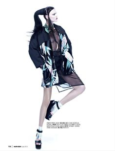 asian warrior: shana m by steve tanchel for marie claire south africa july 2013   visual optimism; fashion editorials, shows, campaigns & more!