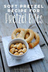 Soft Pretzel Recipe for Pretzel Bites