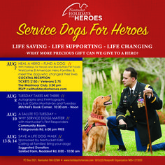 Have a splendid Sunday! Tuesday and I hope to see some of you soon in support of Holidays For Heroes' effort to help heroes.