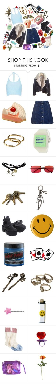 """""""watch me"""" by reslain ❤ liked on Polyvore featuring Motel, Topshop, Nooka, Wet Seal, ...Lost, xO Design, Gucci, Alexander McQueen, Manic Panic NYC and Retrò"""