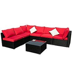 Best Outdoor Black Wicker Furniture and Black Rattan Furniture! We have a huge variety of black wicker porch swings, sofa sets, sectional sofas, rocking chairs, love seats, and more. Wicker Coffee Table, Wicker Dining Set, Wicker Couch, Dining Sets, Wicker Porch Swing, Porch Swings, Wicker Patio Furniture Sets, Conversation Sofa, Sofa Set