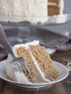 Chai Spice Cake with Vanilla Bean Buttercream: fluffy and decadent (vegan).