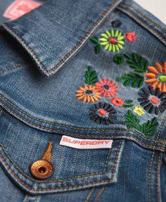 Superdry Embroidered Denim Jacket