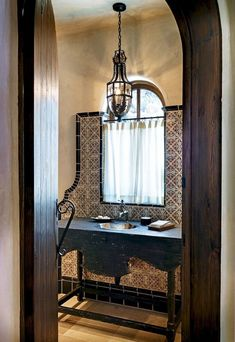 Best photos, images, and pictures gallery about hacienda style bathroom ideas - hacienda style homes Spanish Style Bathrooms, Mexican Decor, Eclectic Bathroom, Home Remodeling, Bathroom Styling, Eclectic Bathroom Design, Mediterranean Home Decor, Bathroom Decor, Beautiful Bathrooms