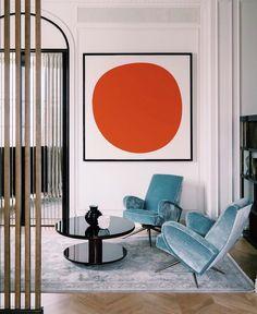 Home Decor Inspiration .Home Decor Inspiration Interior Exterior, Modern Interior, Home Interior Design, Interior Architecture, Interior Decorating, Stylish Interior, Orange Interior, Contemporary Interior Design, Room Interior