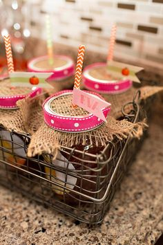 pink meets rustic for a birthday party
