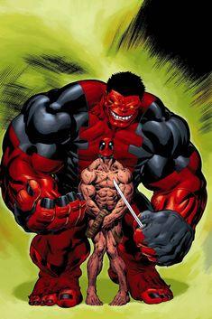 Red Hulk and deadpool Hulk Marvel, Marvel News, Hulk Comic, Marvel Heroes, Hulk Spiderman, Avengers, Batman, Dead Pool, Deadpool Funny