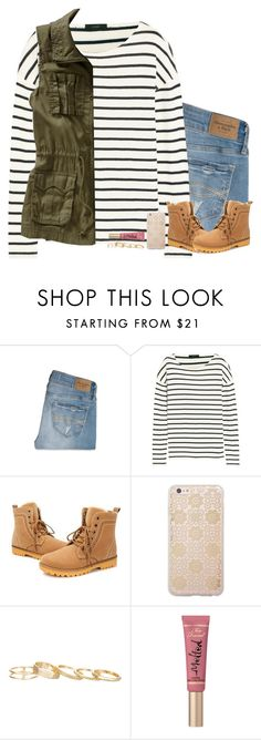"""""""{Title}"""" by evieleet ❤ liked on Polyvore featuring Abercrombie & Fitch, J.Crew, Old Navy, Sonix, Kendra Scott, Too Faced Cosmetics, women's clothing, women's fashion, women and female"""