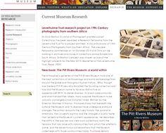 Pitt Rivers Museum website - Research