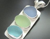 Sea Glass Necklaces with Multiple Pieces of Seaglass