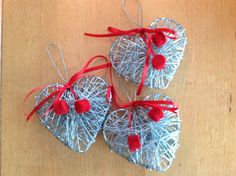 Small wire plaited hearts made by LeenaH