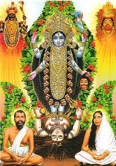 Kali Maa Ramakrisna y Sarada Devi Shiva Hindu, Shiva Art, Durga Maa, Hindu Deities, Hindu Art, Maa Kali Images, Hanuman Images, Lord Krishna Images, Indian Goddess Kali