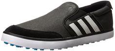 adidas Men's Adicross SL Golf Shoe, Core Black/White/Solar Blue, 11 M US