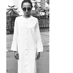 DOM Button Down Shirt Dress - Not Everything To Everyone