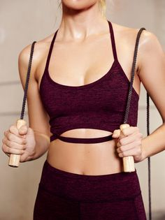 Infinity Bra | American made Picot Performance sports bra in a soft, activewear fabric, and lined in Power Mesh. Strappy T-back design with modern strap detailing below bust, creating a coveted cutout effect.