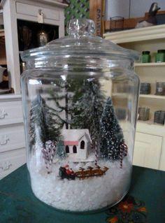 Законсервированный праздник: микромир в «снежном шаре» - Ярмарка Мастеров - ручная работа, handmade