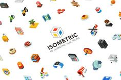 Isometric, 99 icon pack by Oleg Beresnev on @creativemarket