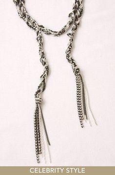 """Stella and Dot necklace, which I think would be fairly easy to make. The """"real"""" one is not long enough, I think I'm going to make a longer version."""