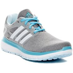adidas Energy Cloudfoam Running Shoe (60 AUD) ❤ liked on Polyvore featuring shoes, athletic shoes, laced up shoes, laced shoes, running shoes, round toe shoes and round cap