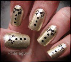 Nail Art by Belegwen: Golden Tuxedo!