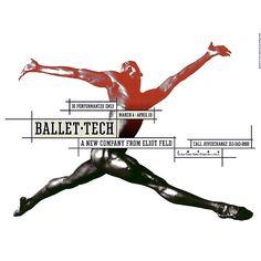 Ballet Tech Poster, designed by Paula Scher (Double Portrait: Paula Scher and Seymour Chwast exhibit at the Philadelphia Museum of Art) Paula Scher, Seymour Chwast, New York Theater, Shakespeare In The Park, Philadelphia Museum Of Art, Branding, Beautiful Posters, The Design Files, Environmental Graphics