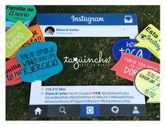 Letreros boda, marco instagram www.taguinche.com