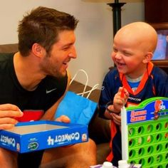 Tim Tebow. Absolutely precious. That little boy from Durham is now in Heaven quarterbacking for the best Coach ever.