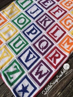 INSTANT DOWNLOAD - Crochet Graph - Crochet Chart - Baby Blanket - Alphabet Letters A-Z - Crochet Letter Blocks - ABC Blanket
