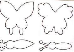 Molde to make a butterfly fofucha in foamy - Imagui