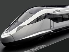 Alstom extends high speed train family  Bullet refined silver black fast exterior front scale model