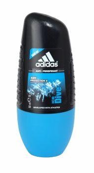 Adidas Anti Perspirant Roll On 50ml Ice Dive Adidas Ice Dive Anti-Perspirant provides intense protection against perspiration, even for athletes! This Alcohol-free and marine salts enriched anti-perspirant has been developed with athletes to create the Max Dry System that ensures anti-odour and anti-whitening properties with no alcohol. Alcohol Free, Salts, Shower Gel, Deodorant, Whitening, Chemistry, Athletes, Health And Beauty, Household