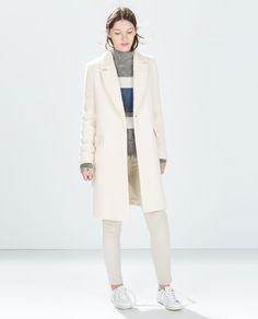 Image 1 of OVERSIZE FANCY WEAVE COAT from Zara