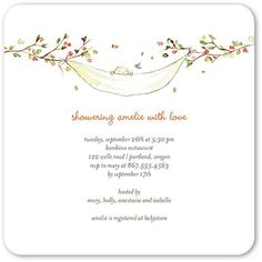 Baby Shower Invitations - Treetop Swing: Autumn Orange by Tiny Prints Envelopes, Baby Shower Themes Neutral, Gender Neutral, Boy Birthday Invitations, Party Invitations, Tiny Prints, Baby Shower Invitations For Boys, Twin Babies, Twins