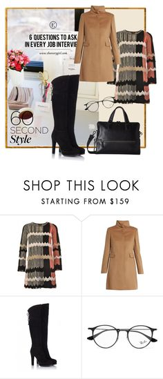 """""""60-second style. Job interview"""" by amaiba ❤ liked on Polyvore featuring Missoni, MaxMara, Fratelli Karida, Ray-Ban and Tumi"""
