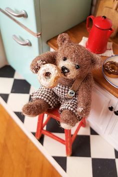 Teddybear, Gingerbread Cookies, Barbie, Miniatures, Draw, Toys, Crafts, Gingerbread Cupcakes, Activity Toys