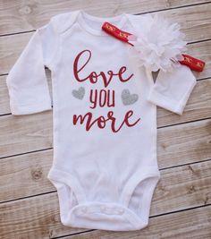 Love you more Valentine's Shirt, girls Valentine's t shirt, Valentine's Day shirt by PaisleyPeanutandCo on Etsy https://www.etsy.com/listing/261894343/love-you-more-valentines-shirt-girls