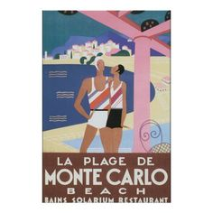 Shop La Plage de Monte Carlo Beach Vintage Travel Poste Poster created by travelpostervintage. Monte Carlo, Aldous Huxley, Poster S, Sale Poster, Summer Activities For Kids, Summer Kids, Travel Wall Art, Summer Poster, Going For Gold
