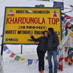 Can you believe it? The highest motorable point on Earth in the Himalayas.