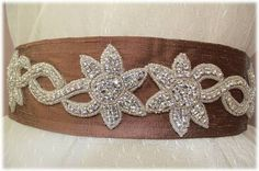 Our Something New Niddy Belt- Wedding Crystal Beaded Satin Sash, Bridal Belt, Rhinestone Sash, $175.00 www.etsy.com/shop/SomethingTreasured8