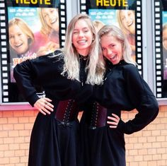 Lisa Or Lena, Girly Pictures, Bff, Leather Skirt, Thats Not My, Twins, Ruffle Blouse, Choker Necklaces, Celebrities