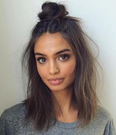 20 Cozy and Cute Sweater Weather Hair Ideas: #11: Half-Up Bun