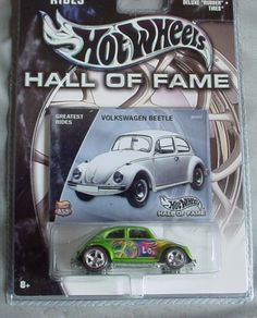 Hot Wheels Hall of Fame Greatest Rides Volkswagen Beetle 1:64 Scale Collectible Die Cast Car by Mattel. $13.00. Real Rider Tires. Limited Edition. 1:64. Hot Wheels Hall of Fame series Greatest Rides - VW Beetle